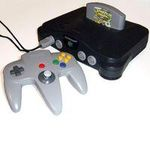 une photo de machine de jeu: Nintendo 64