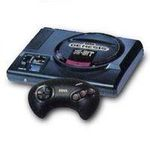 une photo de machine de jeu: Sega Megadrive