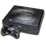une photo de machine de jeu: Sega Saturn