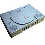 une photo de machine de jeu: Sony Playstation
