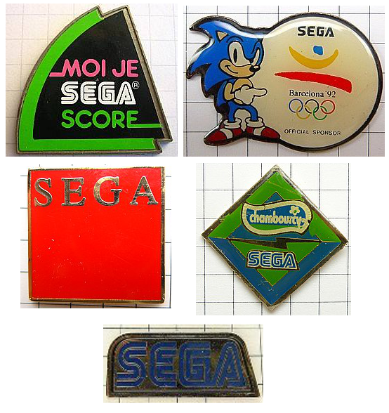 photos de pin's SEGA �dit�s au Japon