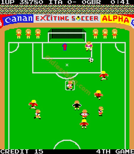 une photo d'écran de Exciting Soccer sur Arcade