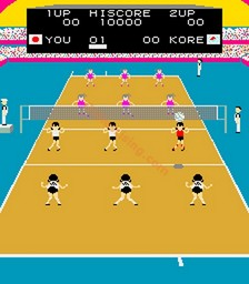 Joshi Volleyball sur Arcade