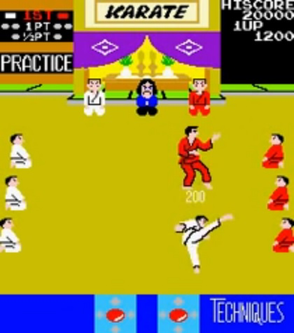 une photo d'écran de Karate Champ sur Arcade