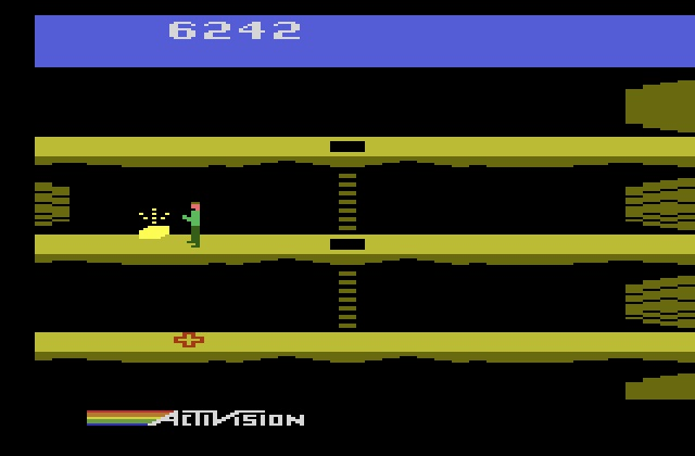 une photo d'écran de Pitfall II Lost Caverns sur Atari 2600