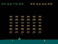 une photo d'écran de Space Invaders sur Atari 2600