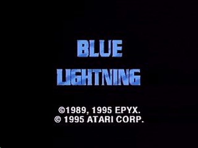 une photo d'écran de Blue Lightning sur Atari Jaguar CD