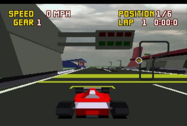 une photo d'écran de Checkered Flag sur Atari Jaguar