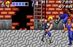 une photo d'écran de Double Dragon sur Atari Lynx
