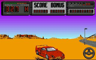 une photo d'écran de Crazy Cars 2 sur Atari ST