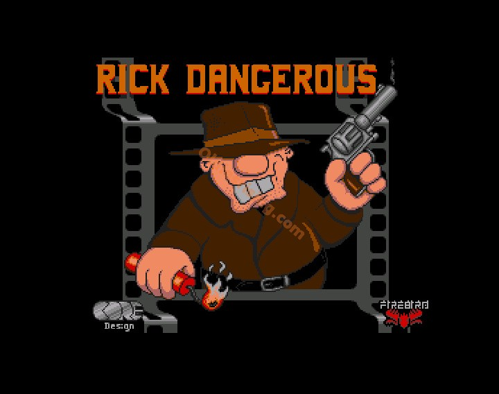 une photo d'écran de Rick Dangerous sur Commodore Amiga
