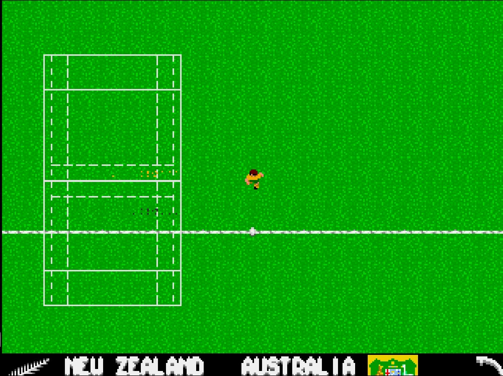 une photo d'écran de Rugby - The World Cup sur Commodore Amiga