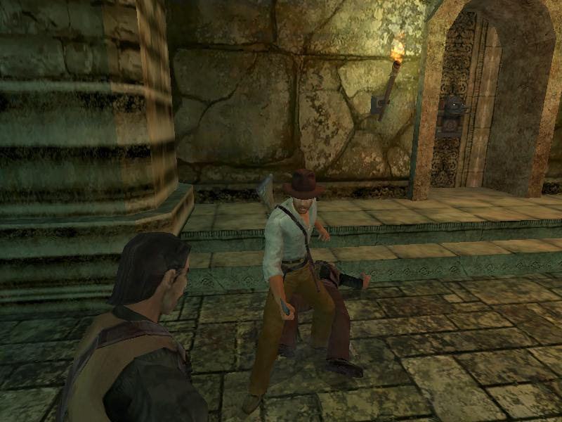 une photo d'écran de Indiana Jones et le Tombeau de l Empereur sur Microsoft X-Box