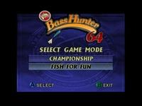 Bass Hunter 64, capture d'écran