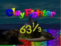 une photo d'écran de Clay Fighter 63 sur Nintendo 64