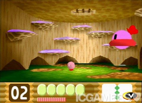 une photo d'écran de Kirby 64 - The Crystal Shards sur Nintendo 64
