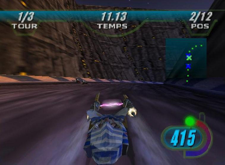 une photo d'écran de Star Wars Episode 1 - Racer sur Nintendo 64