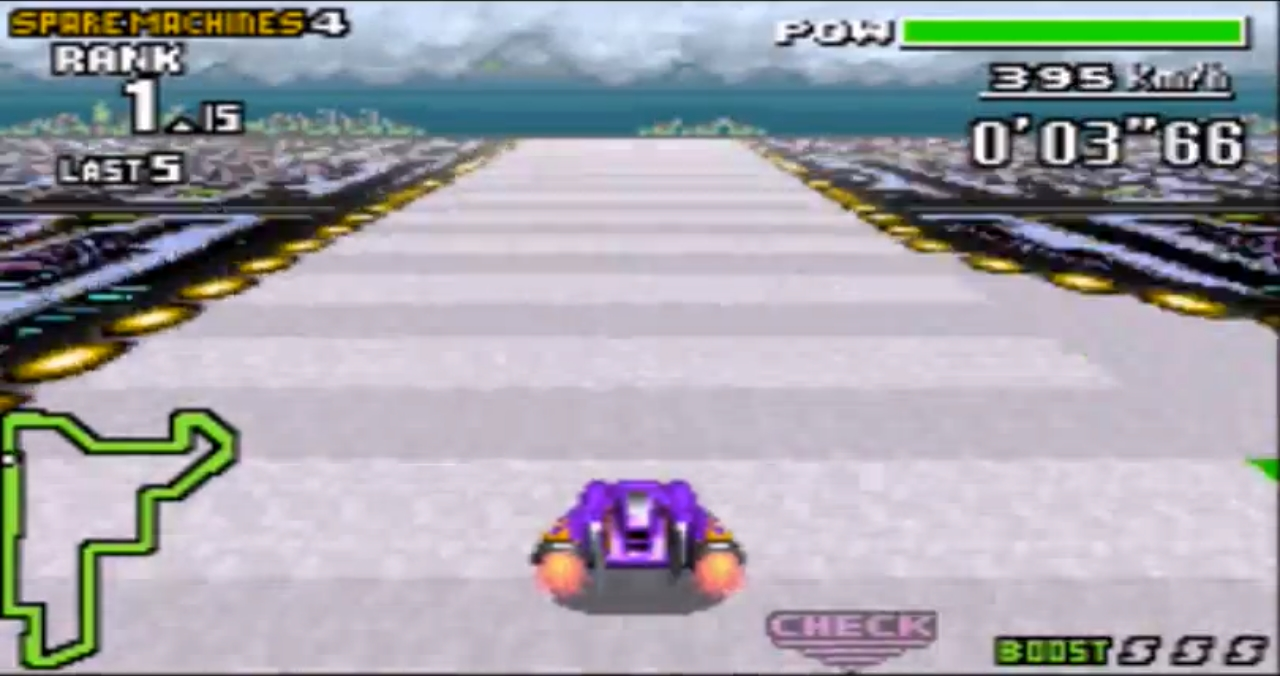 une photo d'écran de F-Zero Maximum Velocity sur Nintendo Game Boy Advance