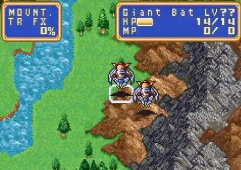 une photo d'écran de Shining Force - The Resurrection of the Dark Dragon sur Nintendo Game Boy Advance