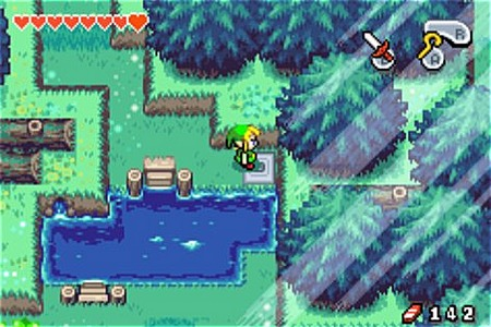 une photo d'écran de The Legend of Zelda - The Minish Cap sur Nintendo Game Boy Advance