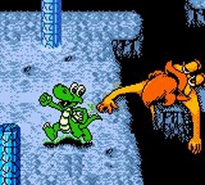 une photo d'écran de Croc 2 sur Nintendo Game Boy Color