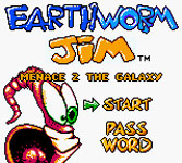 Earthworm Jim - Menace 2 the Galaxy, capture d'écran