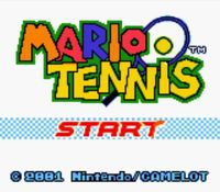 une photo d'écran de Mario Tennis (Game Boy) sur Nintendo Game Boy Color