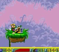 une photo d'écran de Rayman 2 Forever sur Nintendo Game Boy Color