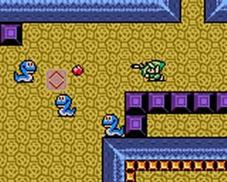 une photo d'écran de The Legend of Zelda - Oracle of Ages sur Nintendo Game Boy Color