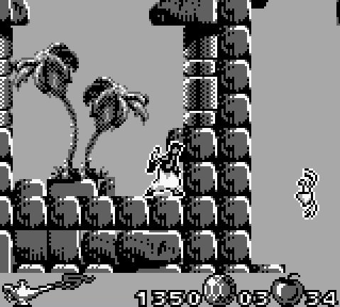 une photo d'écran de Aladdin sur Nintendo Game Boy