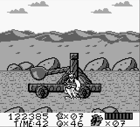 une photo d'écran de Asterix et Obelix (Game Boy) sur Nintendo Game Boy