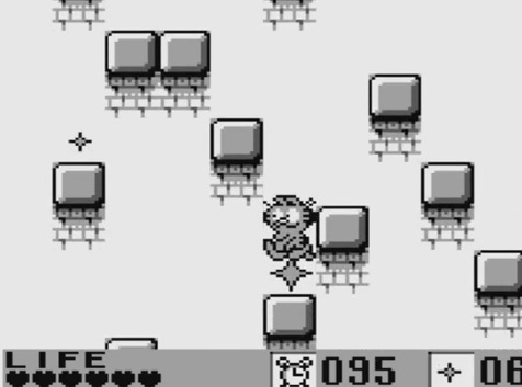une photo d'écran de Garfield Labyrinth sur Nintendo Game Boy