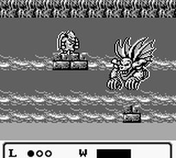 une photo d'écran de Gargoyle s Quest sur Nintendo Game Boy