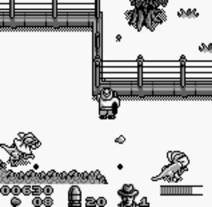 une photo d'écran de Jurassic Park sur Nintendo Game Boy
