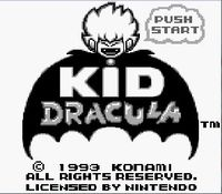 Kid Dracula, capture d'écran