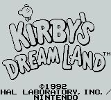 une photo d'écran de Kirby s Dream Land sur Nintendo Game Boy
