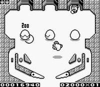 une photo d'écran de Kirby s Pinball Land sur Nintendo Game Boy