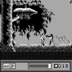 une photo d'écran de Le Monde Perdu - Jurassic Park (Game Boy) sur Nintendo Game Boy