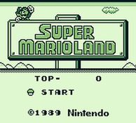 une photo d'écran de Super Mario Land sur Nintendo Game Boy