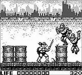 Teenage Mutant Ninja Turtles - Fall of the Foot Clan sur Nintendo Game Boy