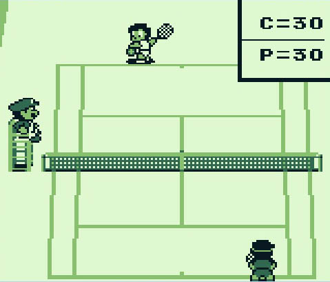 une photo d'écran de Tennis sur Nintendo Game Boy