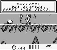 une photo d'�cran de Tintin - Le Temple du Soleil sur Nintendo Game Boy