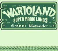 une photo d'écran de Wario Land sur Nintendo Game Boy