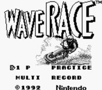 une photo d'écran de Wave Race sur Nintendo Game Boy
