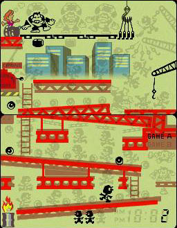 une photo d'écran de Donkey Kong (GaW) sur Nintendo Game and Watch