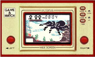 une photo d'écran de Octopus sur Nintendo Game and Watch