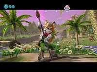 une photo d'écran de Starfox Adventures sur Nintendo Gamecube