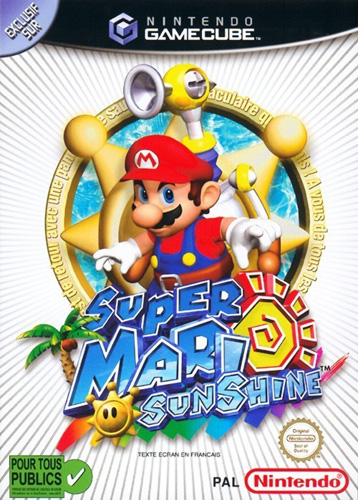 Photo de la boite de Super Mario Sunshine