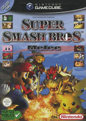 Photo de la boite de Super Smash Bros Melee