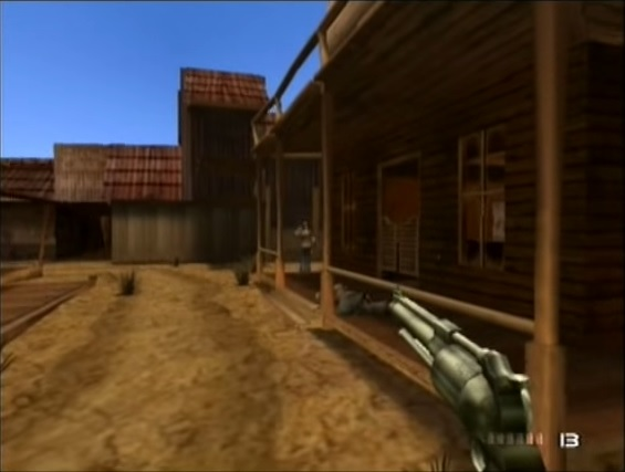 une photo d'écran de Time Splitters 2 sur Nintendo Gamecube